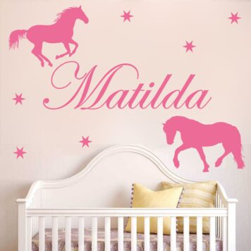 PERSONALISED HORSE NAME with stars