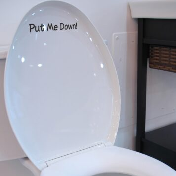 Put Me Down - Funny Toilet Seat Sticker