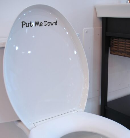 Put Me Down - Funny Toilet Seat Sticker