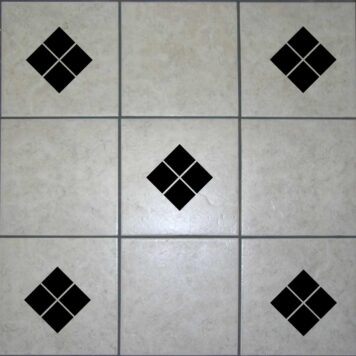 18 Diamond Square Tile Stickers