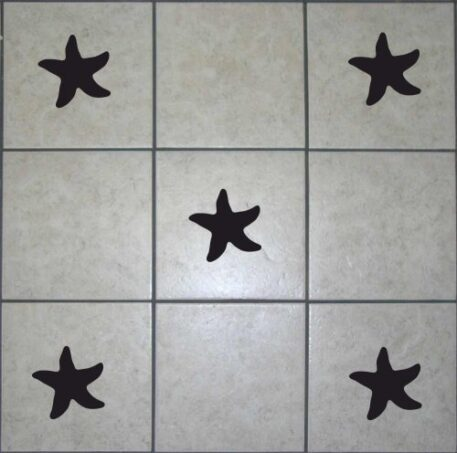 16 Star Fish Tile Stickers