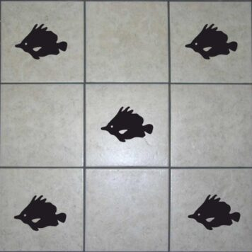 16 Fish Tile Stickers