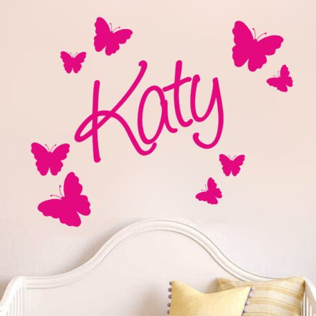 Cute personalised name with butterflies