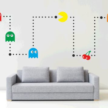 PACMAN Wall sticker kit