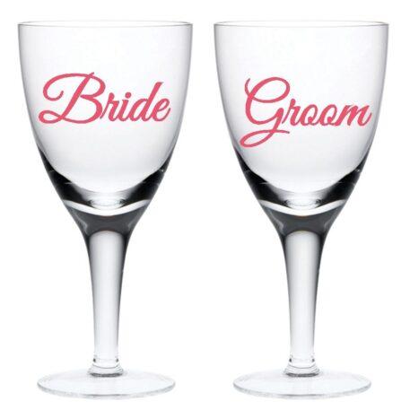 Wedding glass stickers