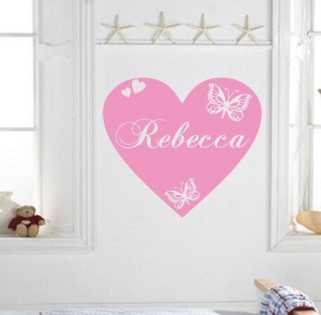 Large heart with personalised name inside