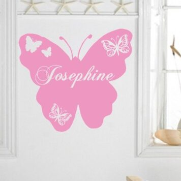 Large butterfly with personalised name inside