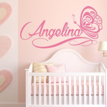 FANCY personalised name butterflies & hearts