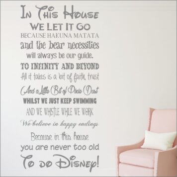 We do disney style house rules