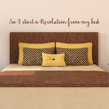 OASIS lyrics - So i start a revolution from my bed