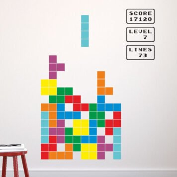 TETRIS Wall sticker kit