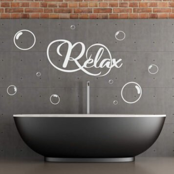 Relax with bubbles