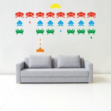 SPACE INVADERS Wall sticker kit