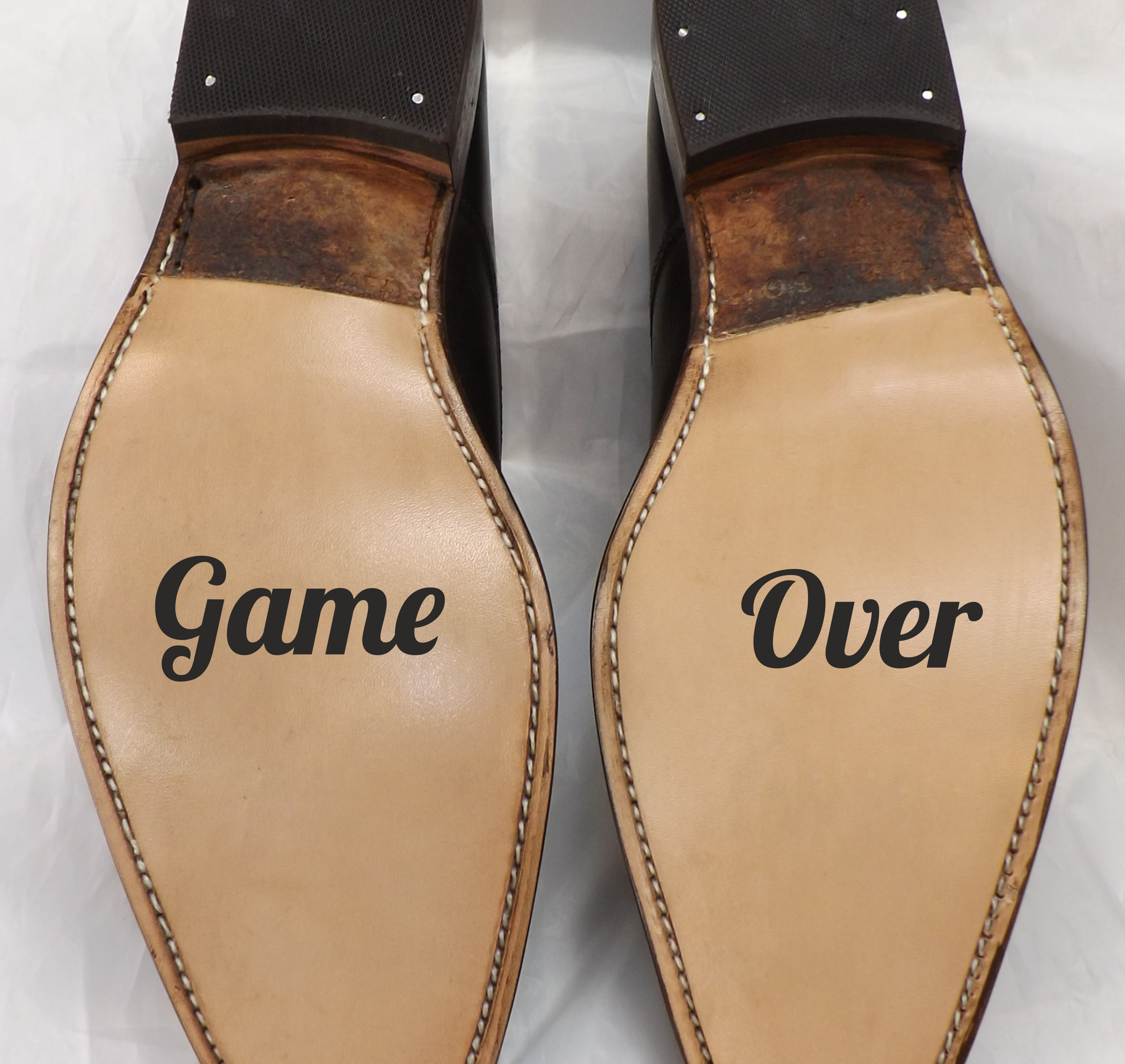 d5adeb21ed724 Game Over Wedding Shoe Stickers